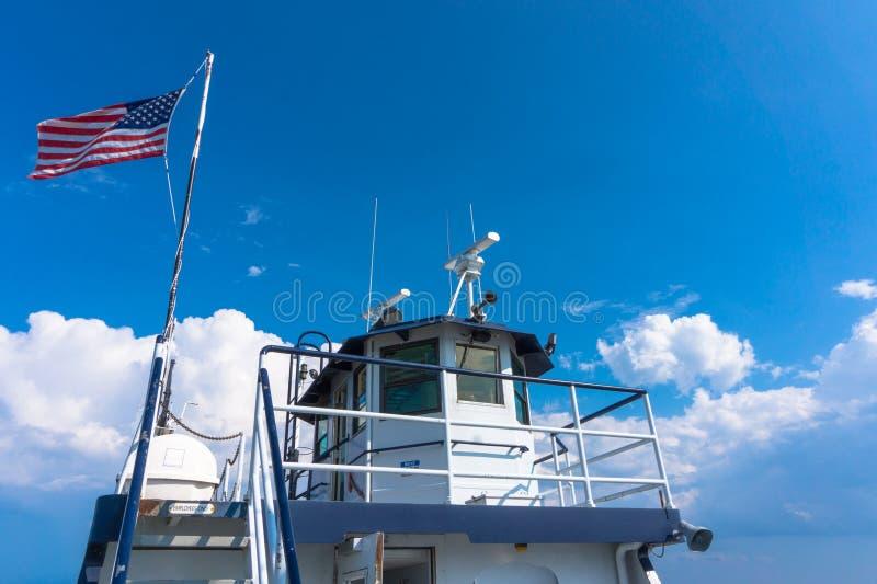 Veerboot proefhuis stock afbeeldingen
