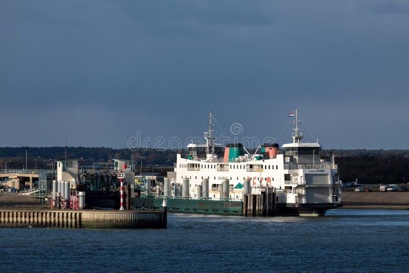 Veerboot SCHULPENGAT van TESO stock fotografie