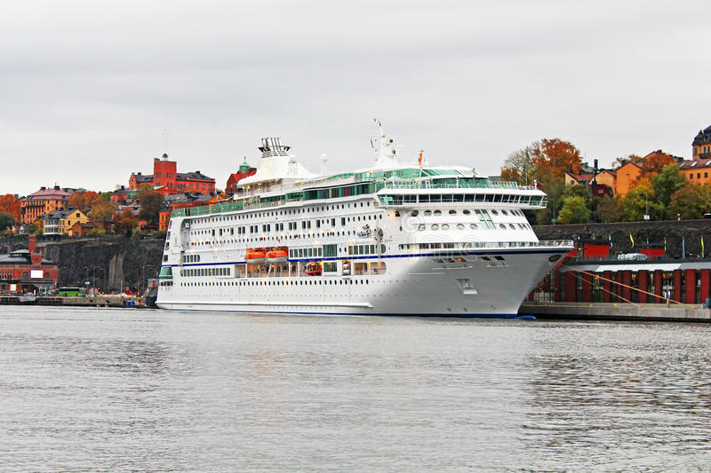 Veerboot in Stockholm, Zweden royalty-vrije stock foto's