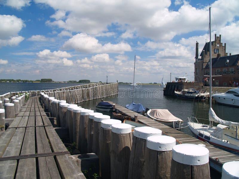 Veere, Zeeland, Países Baixos fotografia de stock