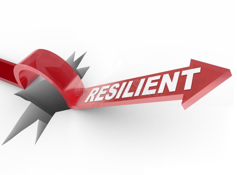 Veerkrachtig - Toenemend tot Uitdaging en Overwinnend een Moeilijkheid vector illustratie