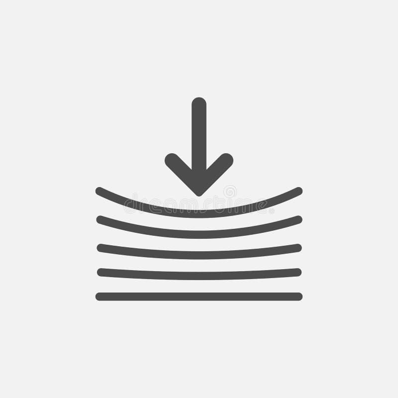 Veerkrachtpictogram Geïsoleerdj op witte achtergrond Vector illustratie royalty-vrije illustratie
