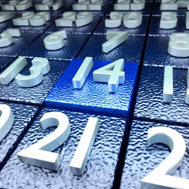 Veertiende kalenderdag royalty-vrije stock afbeelding