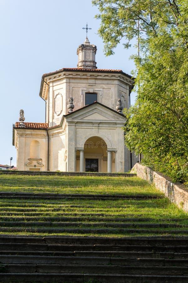 Veertiende Kapel in Sacro Monte di Varese Italië royalty-vrije stock afbeeldingen