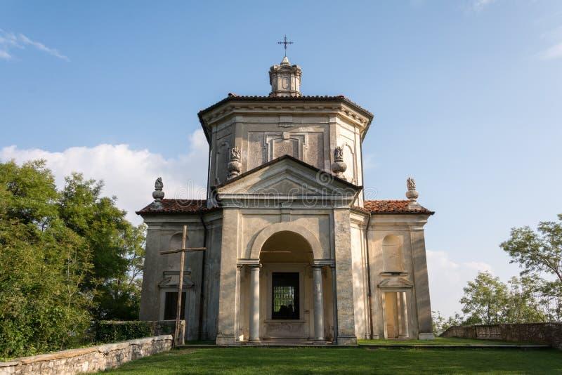 Veertiende Kapel in Sacro Monte di Varese Italië stock afbeeldingen