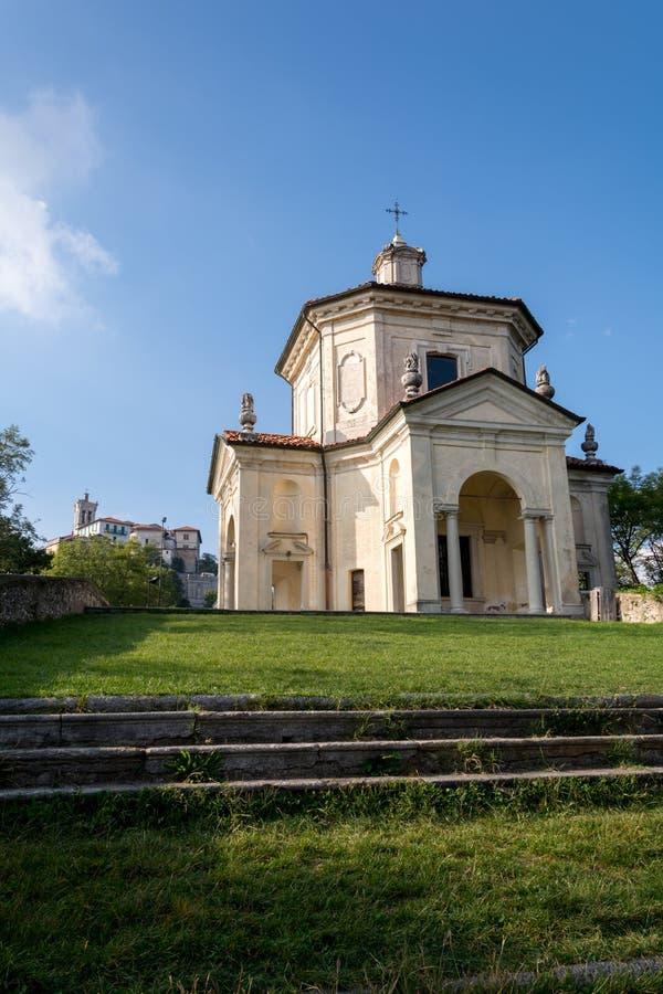 Veertiende Kapel in Sacro Monte di Varese Italië royalty-vrije stock foto's