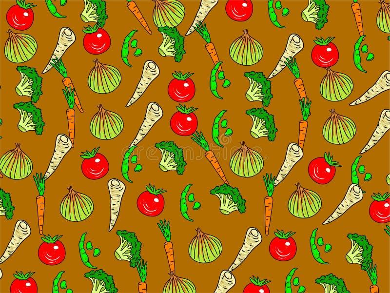 veg ταπετσαρία διανυσματική απεικόνιση