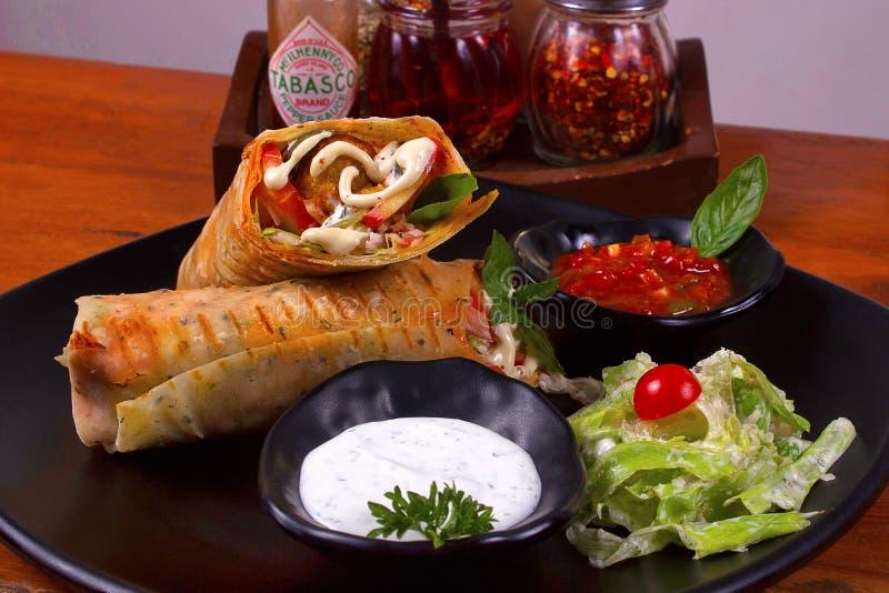Veg-Enchiladas, Pune lizenzfreies stockfoto