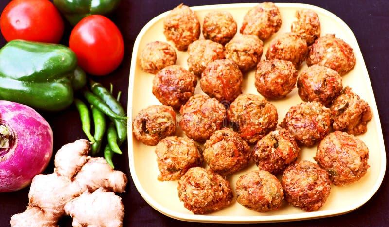 Veg Fried Manchurian Balls immagini stock