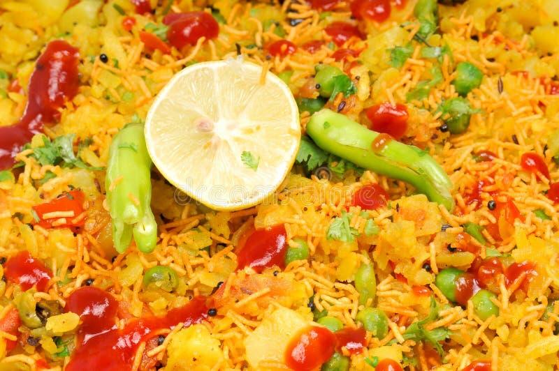 Veg gujarati poha dish royalty free stock photos
