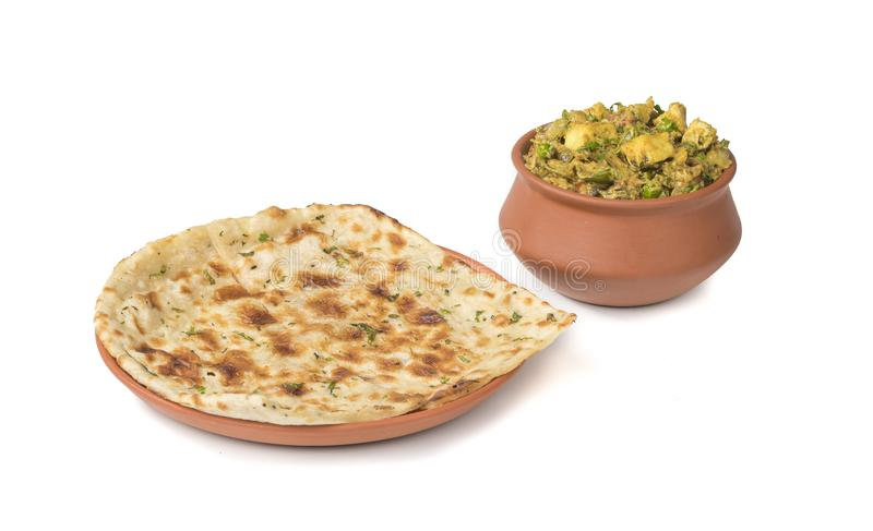 Veg Jaipuri curry royaltyfri foto