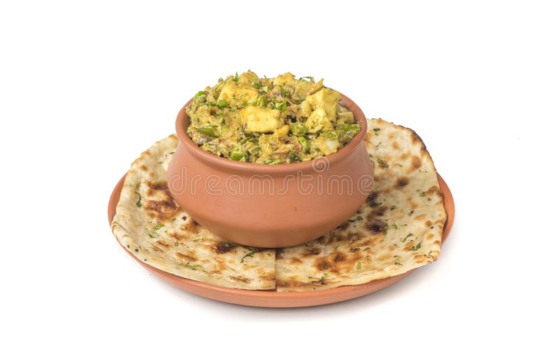 Veg Jaipuri curry arkivfoto