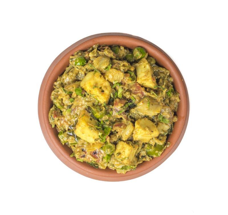Veg Jaipuri curry arkivbild