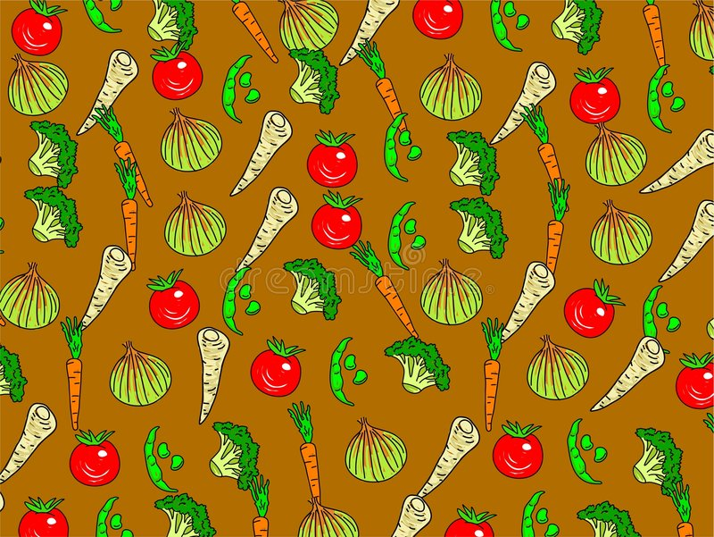 Veg wallpaper vector illustration