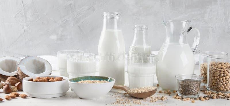 Vegan молоко дневника не стоковая фотография