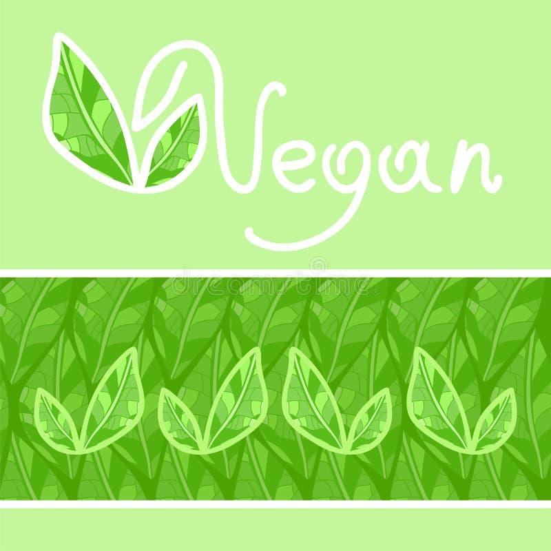 vegan royalty-vrije illustratie