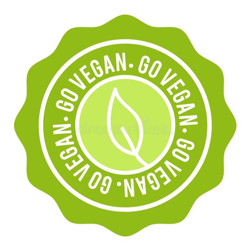 Vegan Button. Go Vegan Badge. Eps10 Vector Banner. stock illustration