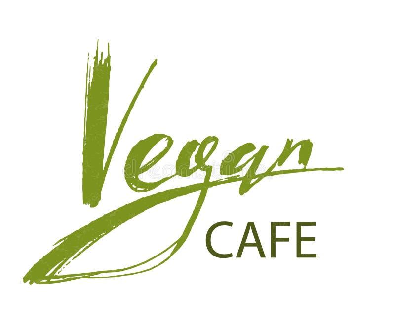 Vegan cafe logo stock illustration