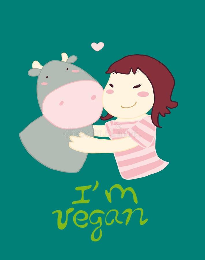 Download Vegan concept stock illustration. Image of love, animals - 19566678