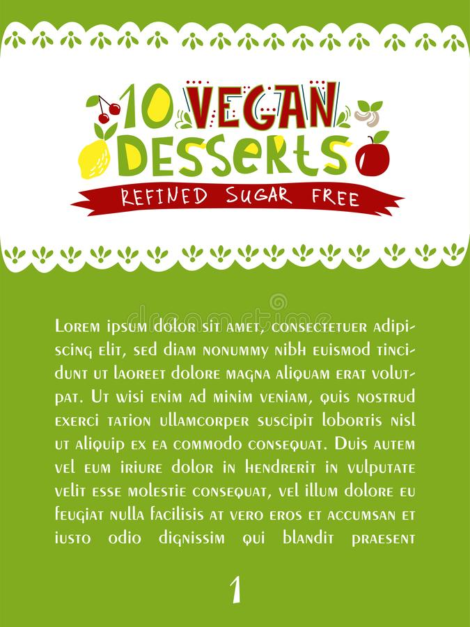 10 vegan dessert royalty free illustration