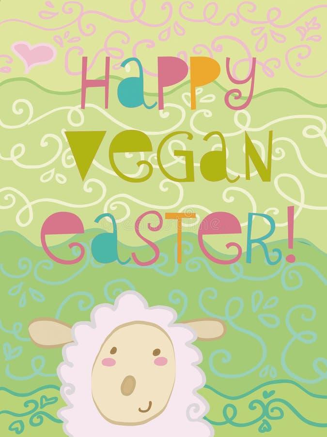 Vegan felice Pasqua illustrazione vettoriale