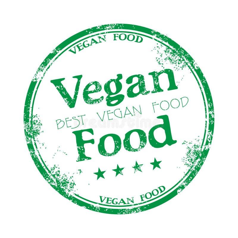 Vegan food grunge rubber stamp stock photography