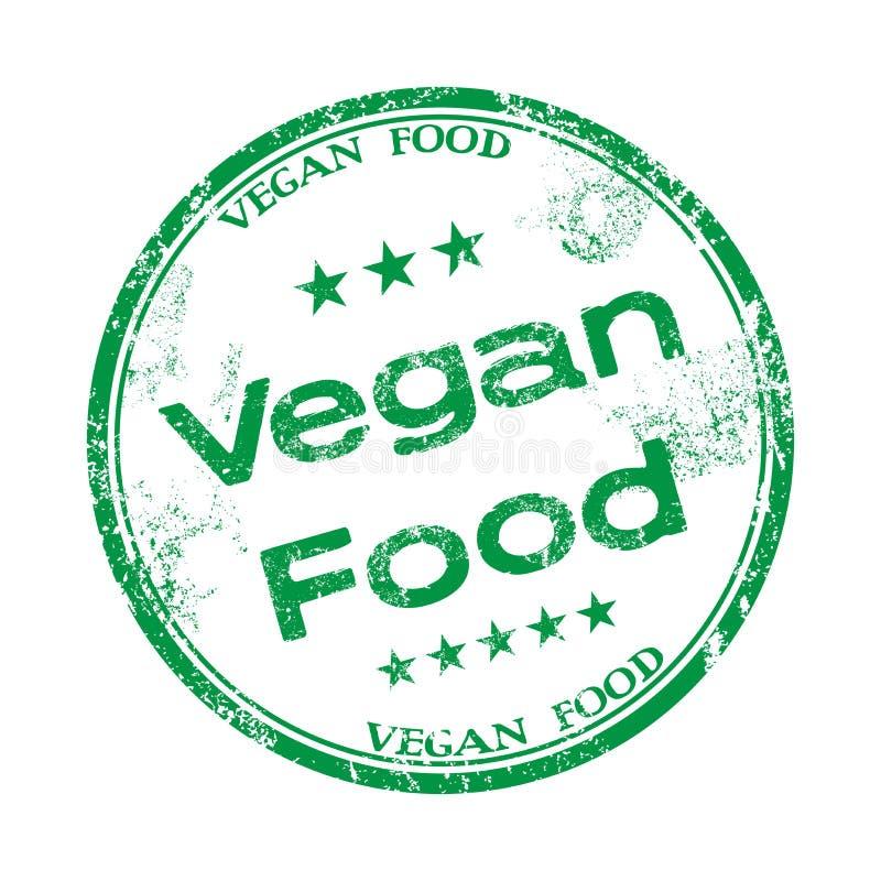 Vegan food grunge rubber stamp royalty free stock images