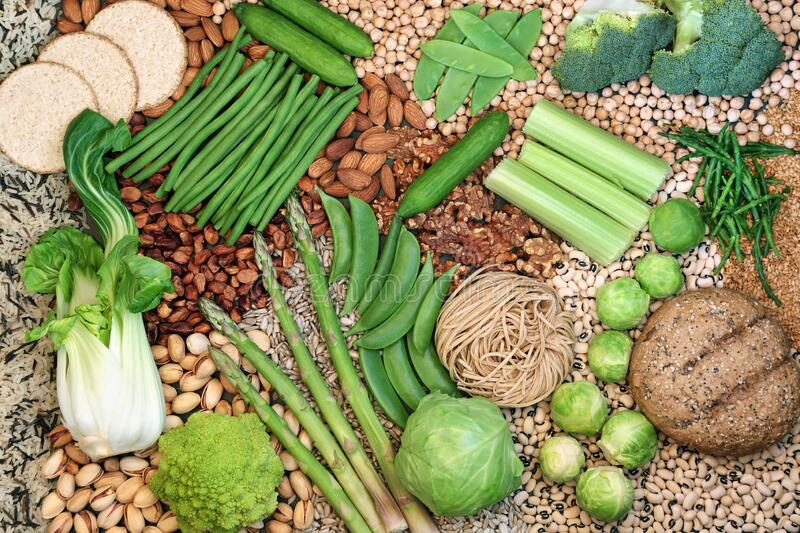 Vegan Food for a Healthy Diet stock image