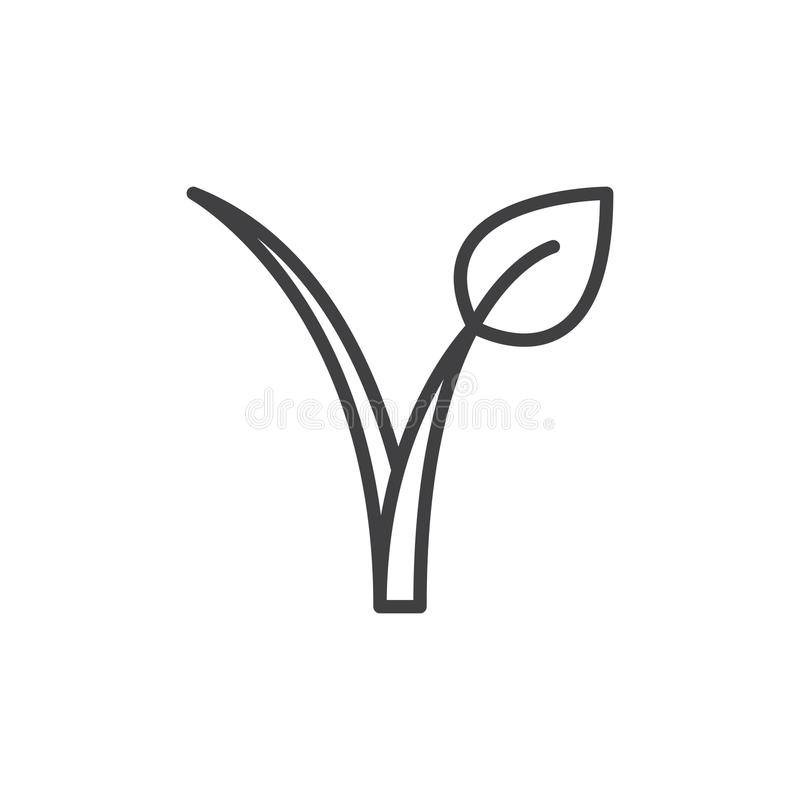 Vegan Food Logo Line Icon Stock Vector Illustration Of Healthy