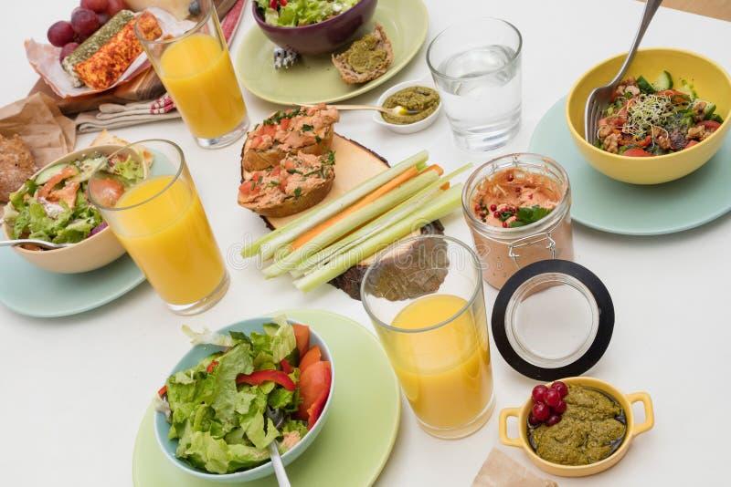 Vegan food on table stock photo