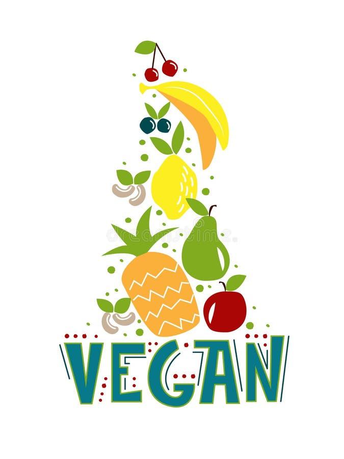 Vegan food royalty free illustration