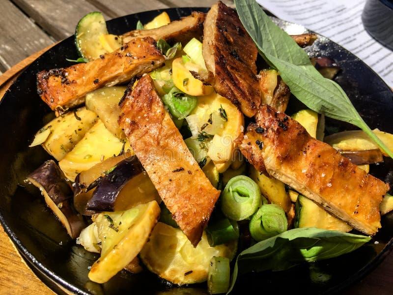 Vegan Food. Vegetable dinner Background royalty free stock photography