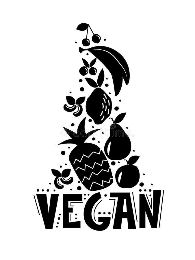 Vegan fresh dessert vector illustration