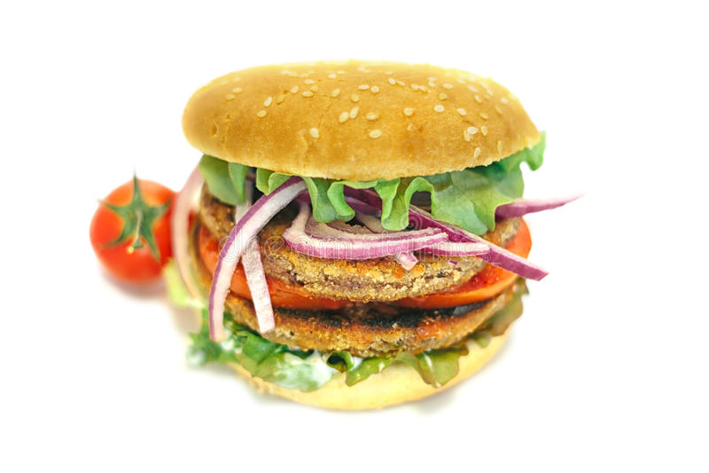 Vegan hamburger stock image
