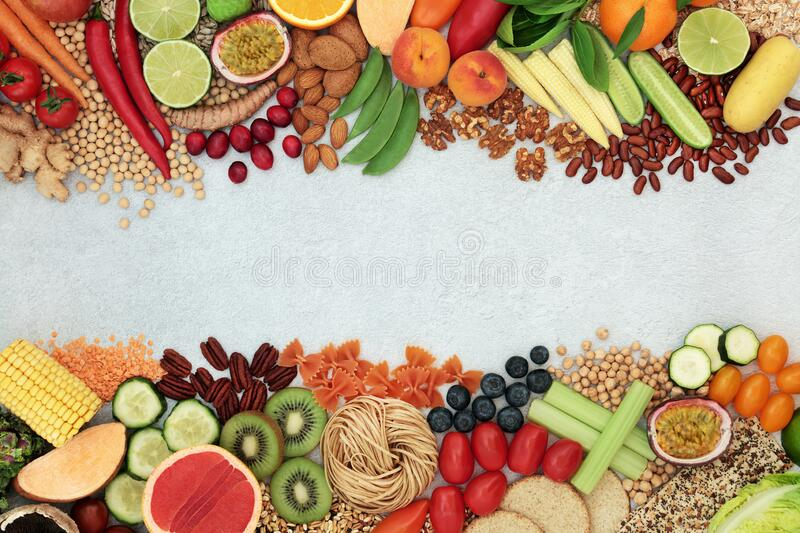 Vegan Health Food Background Border stock foto