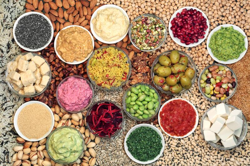 Vegan Health Food for Clean Eating royalty free stock images