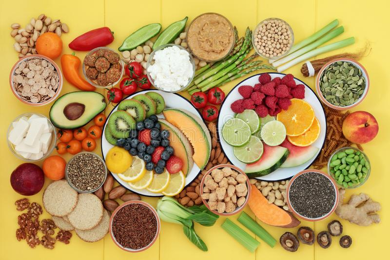 Vegan Health Food for a Healthy Life stock photography