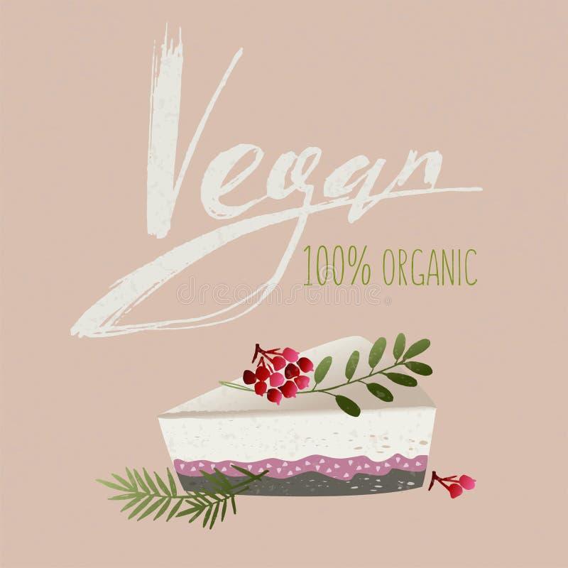 Vegan and healthy food logo royalty free illustration