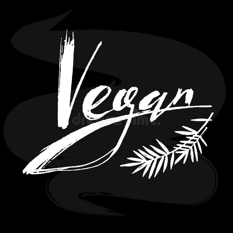 Vegan lettering logo stock illustration