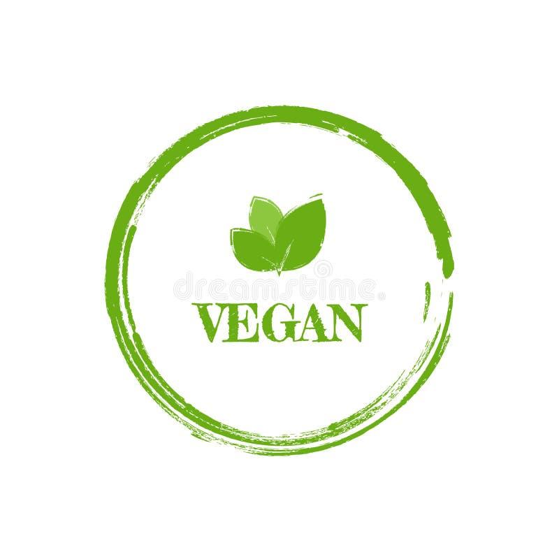 Vegan Icon Green Leaf Label Template For Vegan Or Vegetarian Food