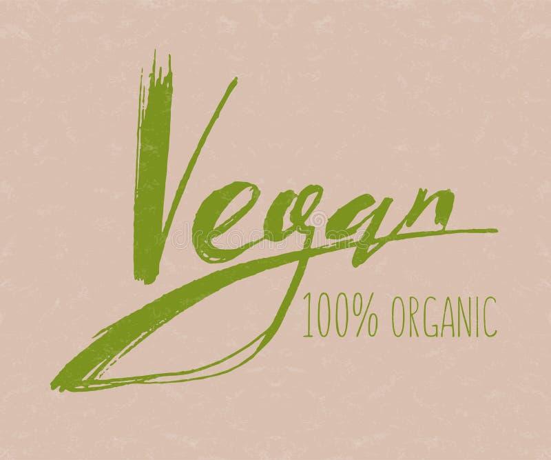 Vegan logo and icon. vector illustration