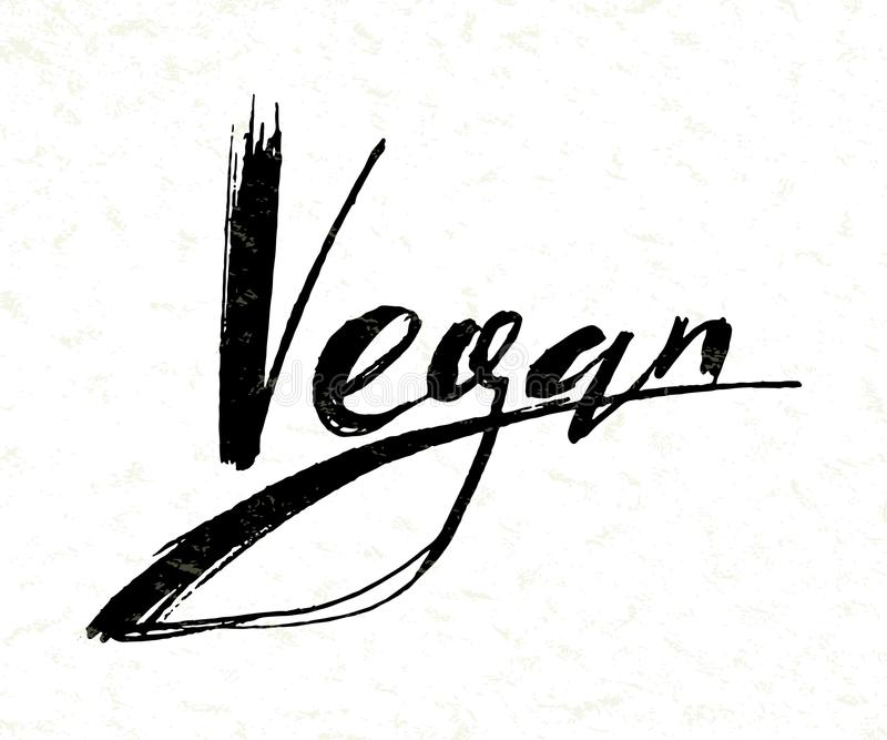 Vegan logo royalty free illustration