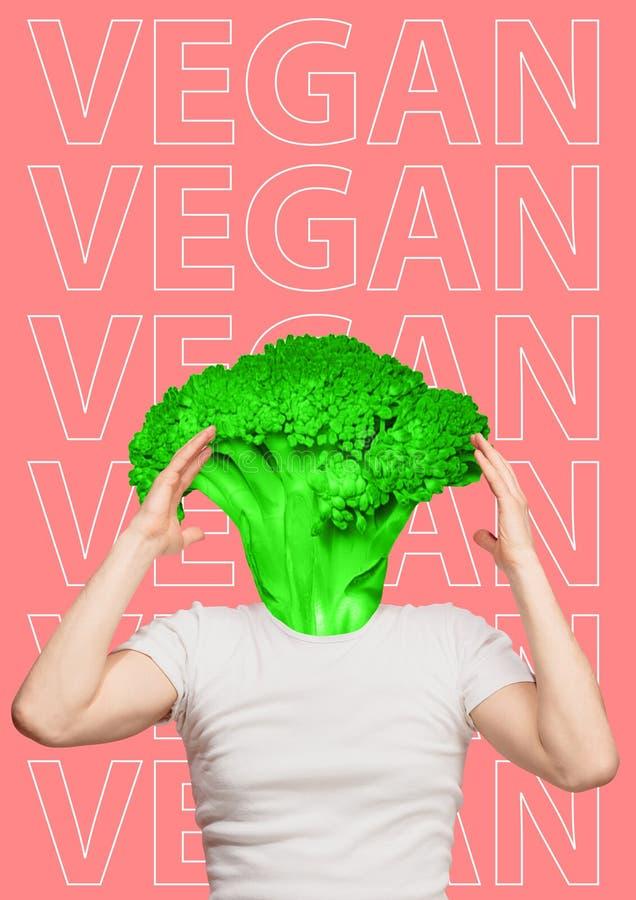 vegan modern design Samtida konstcollage royaltyfri bild