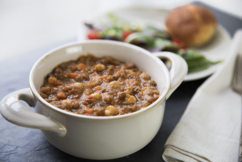 Vegan Moroccan Stew Dinner stock image