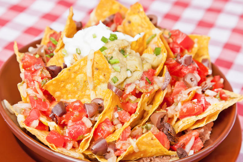 Vegan nachos stock photos