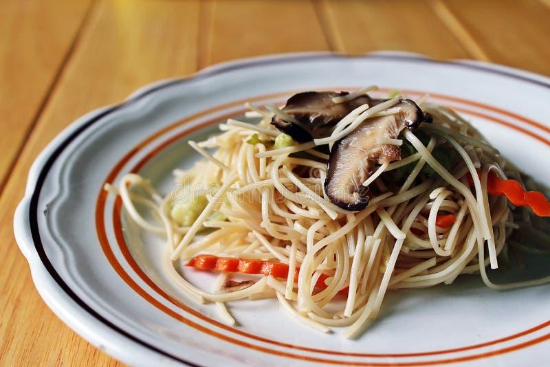 Vegan noodles dish stock photos