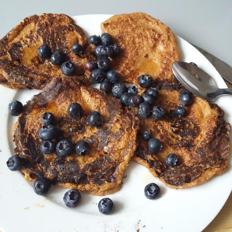 Vegan pancakes royalty free stock images