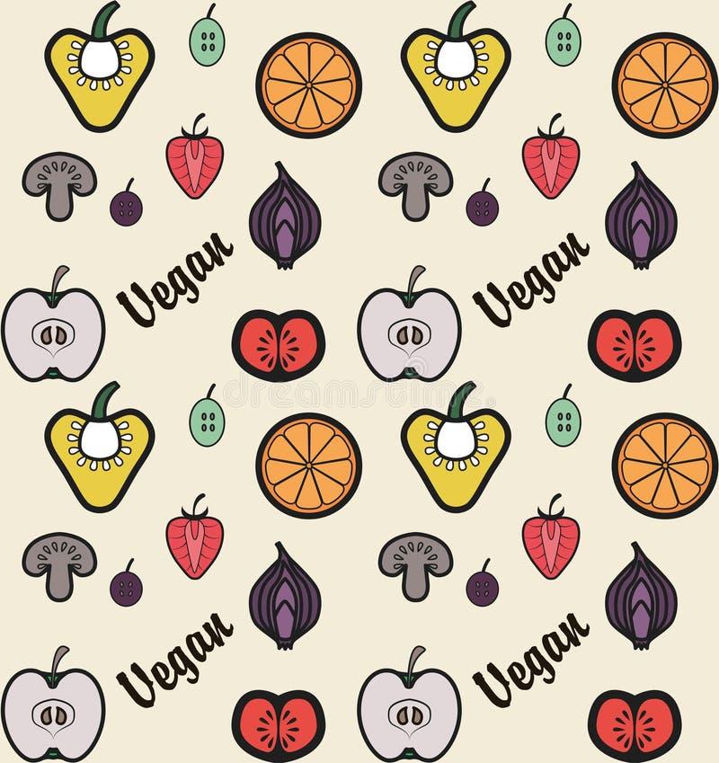 Vegan pattern stock images