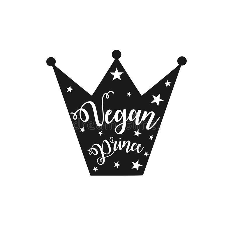Vegan prince stock illustration