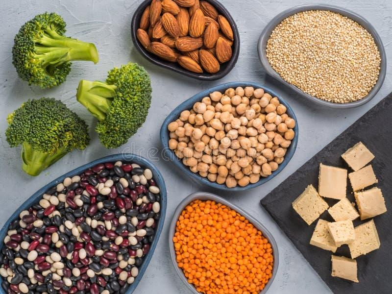 Vegan protein concept stock photos